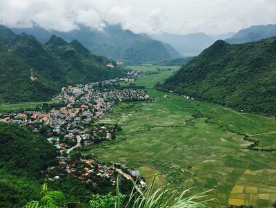 View of Mai Chau village in Vietnam