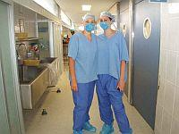 In our scrubs