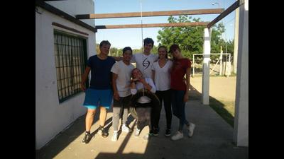 A group of volunteers in Argentina