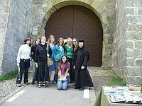Group photo with a nun