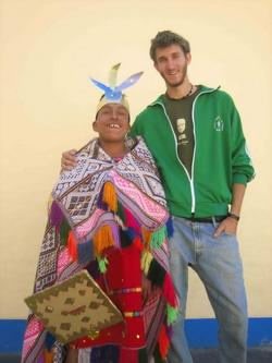 With man in traditional dress