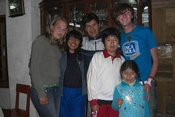 With my host family