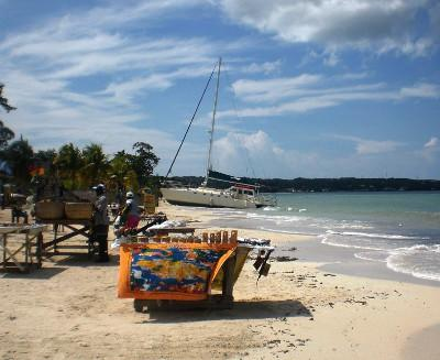 Sandy beaches in Negril