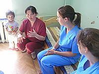 Doctor Erdenechimeg at the Paedriatic hospital