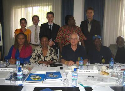 With human rights colleagues