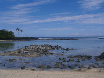 Travelling around and visiting beaches in Samoa