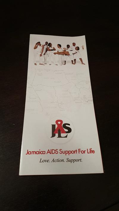 A pamphlet for the Jamaica Aids Support for Life foundation