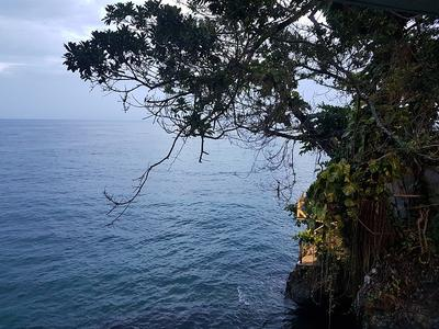 A view of the ocean off the coast of Jamaica