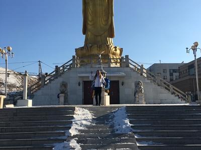 Sally enjoying free time in Mongolia