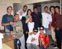 With students and staff