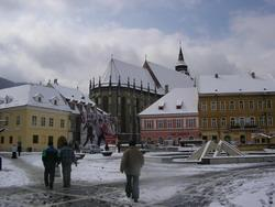 The square in the snow