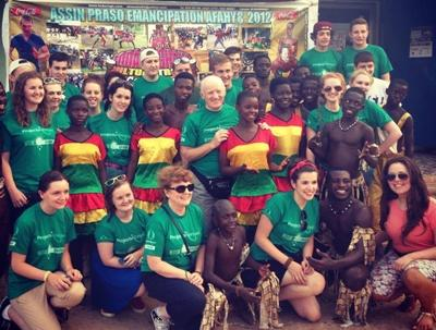 Volunteer group in Ghana