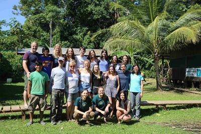 Conservation volunteers at Taricaya Ecological Reserve in Peru