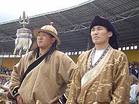 At the Naadam festival