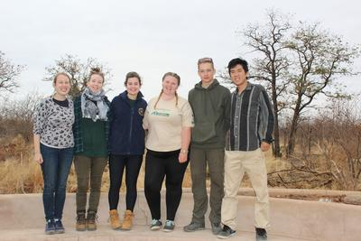 A group photo of the Conservation volunteers in Botswana