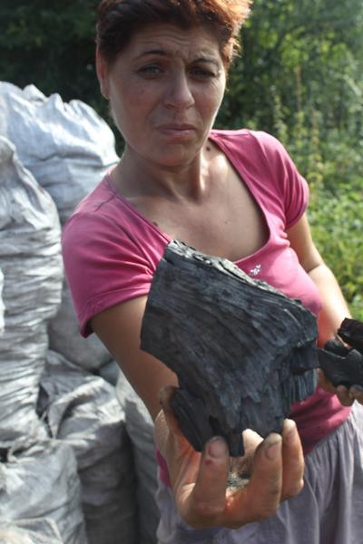 A local coal maker in Romania