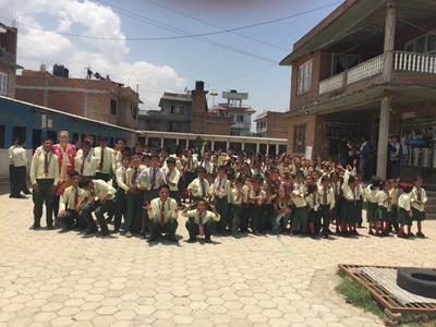 School children in Kathmandu in Nepal