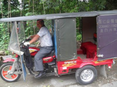 Travel by rickshaw