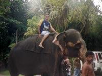 Me riding an elephant
