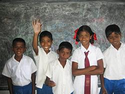 School children at my placement
