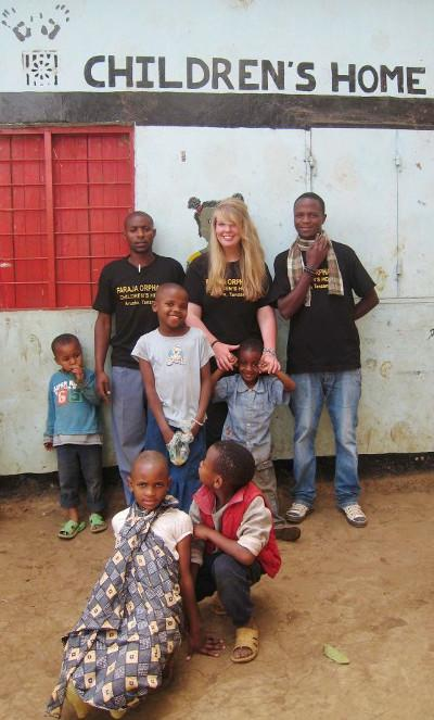 At the childrens home
