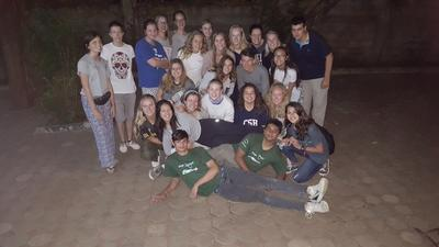 A group of High School Special volunteers in Tanzania