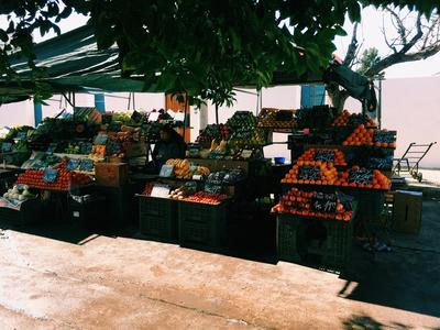 A fresh food market in Cordoba