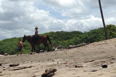 Volunteer horse riding