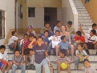 Me and the boys at the orphanage