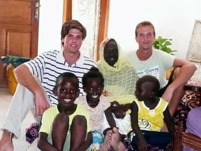 Me and my hosts grandchildren