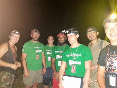 Stephanie and the other volunteers during a crocodile headlight survey