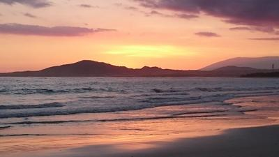 Sunset over the sea in Ecuador