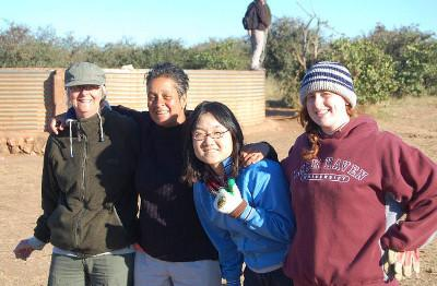 Volunteers on a conservation project in South Africa