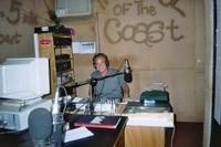 Steven Poulton broadcasting live for Atlantic FM Radio Station