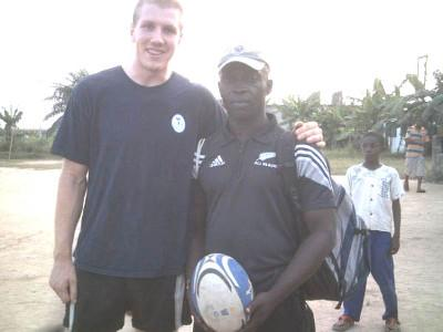 With local rugby coach