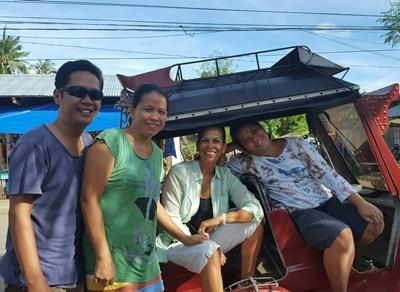 Travelling on a trike in the Philippines