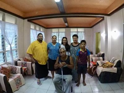 Tani with her host family in Samoa