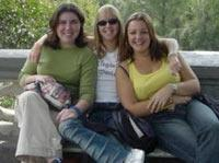Me and two other volunteers on trip to Mexico City