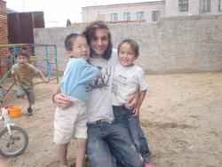 With kids at placement