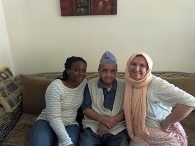 Tiffany with her Arabic tutor