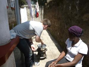 Cooking in Kenya