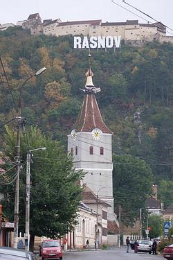 Rasnov town sign