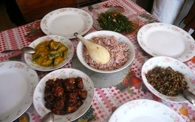 The Monks feast