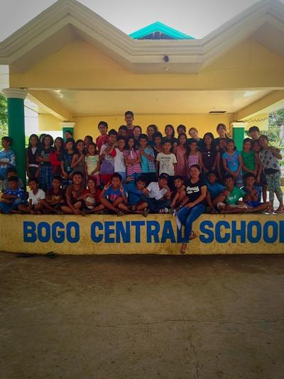 Volunteering at the school