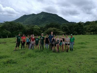 Conservation volunteers working at Barra Honda National Park