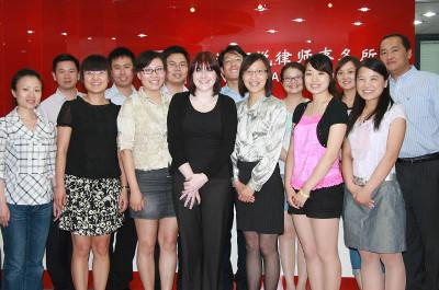 Volunteer with Staff at a Law & Human Rights project in China