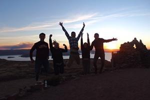 Voluntario en Lago Titicaca