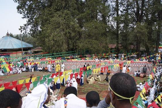 Domingo de la palma ortodoxa en Entoto (Addis Ababa)