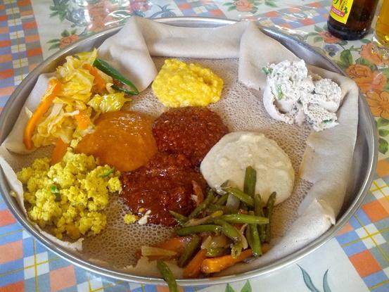Injera, la comida típica de Etiopía