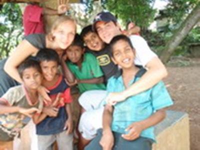 Avec les enfants du projet